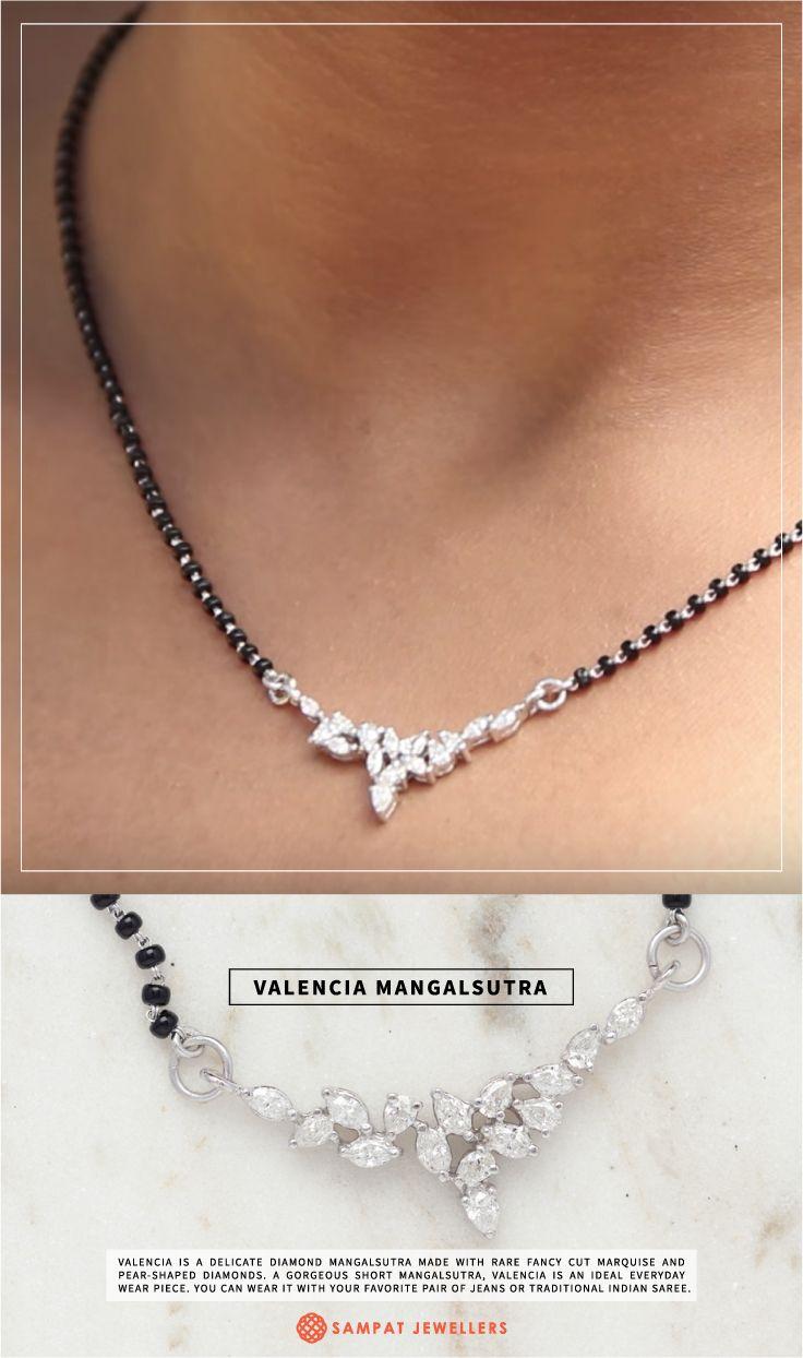 Delicate Diamond Mangalsutra In 2019 Jewelry Pinterest
