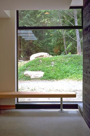 acton ostry architects Mount Currie<BR>Health Care + Day Care window bench