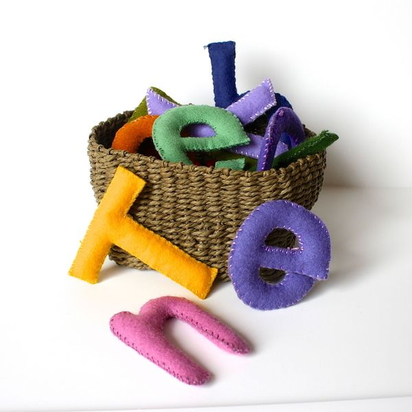 This project is literally easy as A, B, C. These felt-stuffed toy letters are fun for future readers to play with and educational to boot. (Buggy and Buddy)