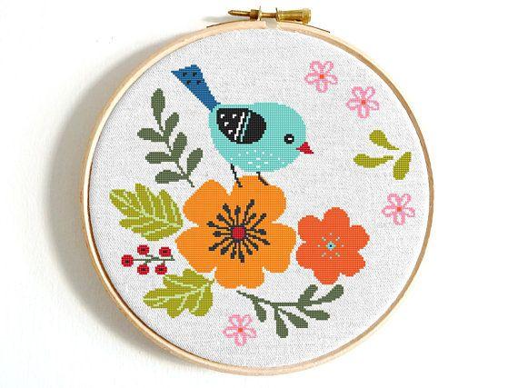 Tulip cross stitch pattern pdf modern cross stitch floral cross stitch nature cross stitch