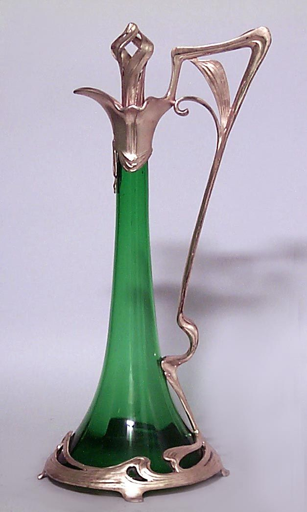 Art Nouveau Art Nouveau accessories decanter glass