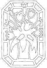 Цветы   Вытынанка