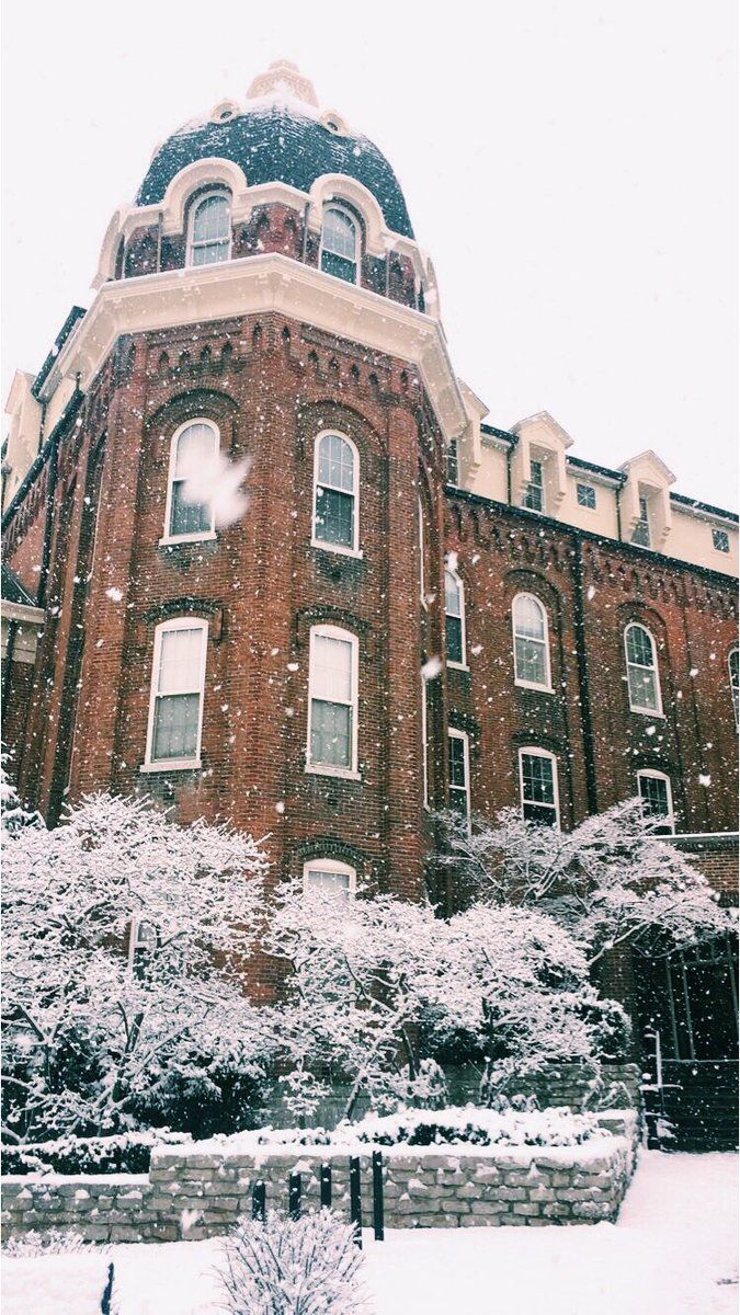 winter at The University of Dayton