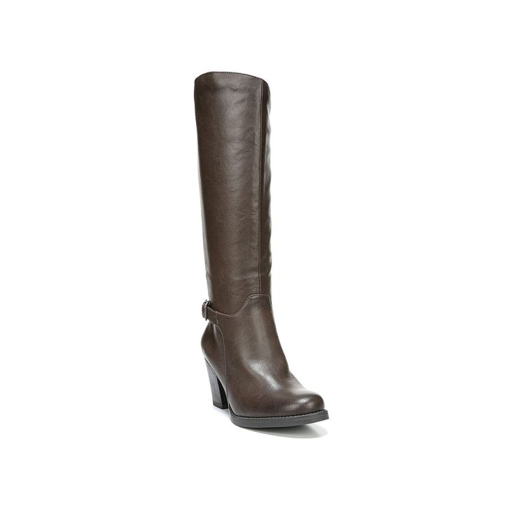 NaturalSoul by naturalizer Ysabelle Women's Riding Boots, Size: medium (7.5), Brown