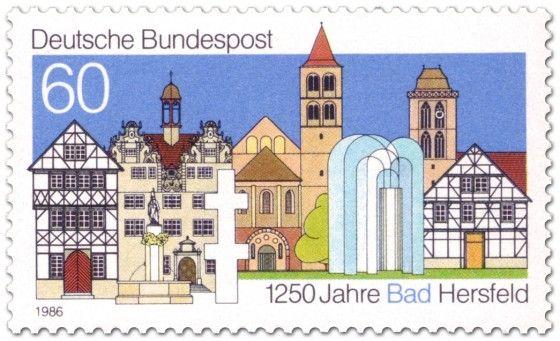 Bundesrepublik Deutschland 1986 Stadtansicht von Bad