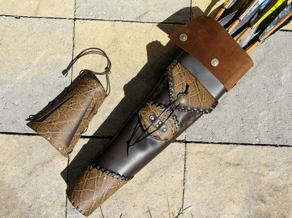 Archery Arrow Quiver and Armguard Set XAN by by TrishasTreasure