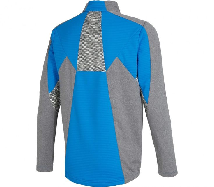 Ziener - Jalon Lange mouw Half-Zip Heren functie overhemd (blauw/groen)