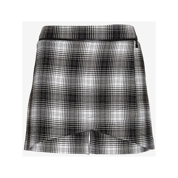 Robert Rodriguez Zipper Detail Plaid Skort (93 AUD) ❤ liked on Polyvore featuring skirts, mini skirts, robert rodriguez, skort skirt, plaid skirt, golf skirts and robert rodriguez skirt