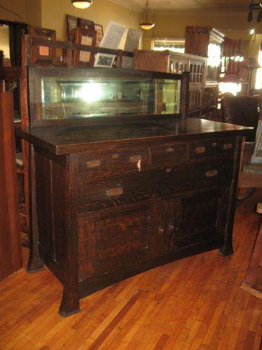 Antique Mission Oak Sideboard Buffet Arts Amp Crafts Grand