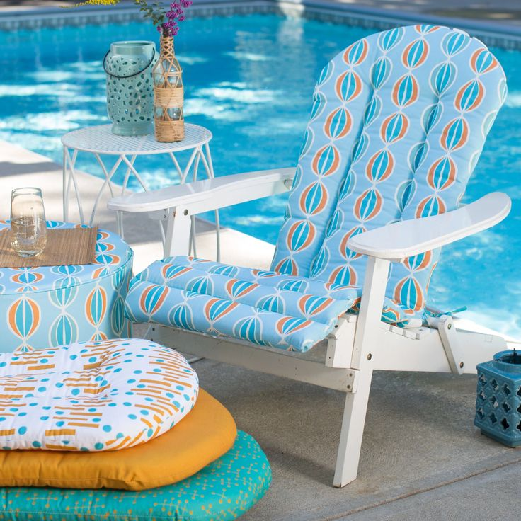 Coral Coast Mid-Century Modern 49 x 20 in. Adirondack Chair Cushion | from hayneedle.com
