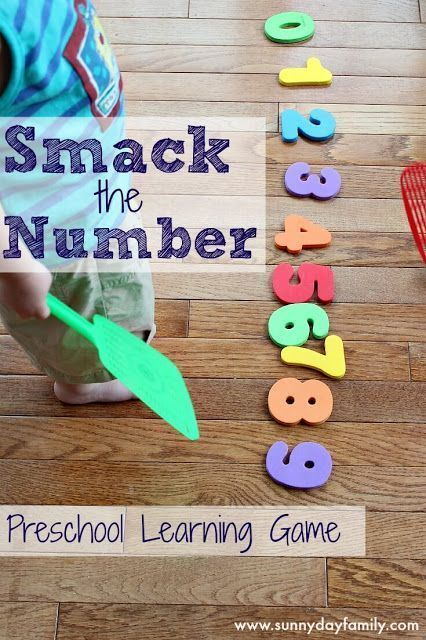 Easy, fun, no prep number activity for preschoolers! Help them learn numbers while playing a fun game.