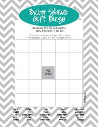 Baby Shower Gift Bingo Instructions And Printable Game