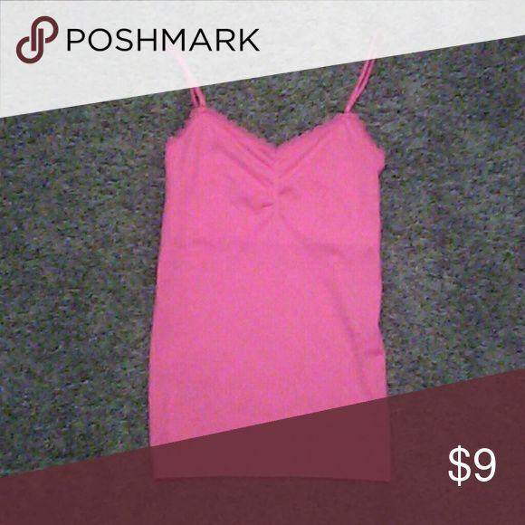 VS pink cami NWT pink cami by VS, has built in bra...no padding Victoria's Secret Intimates & Sleepwear Shapewear