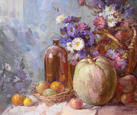 Натюрморт с тыквой - Грицына Виктор