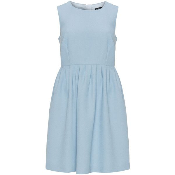Manon Baptiste Light-Blue Plus Size Fit and flare gathered dress ($170) ❤ liked on Polyvore featuring dresses, plus size, blue plus size dress, fit and flare dress, light blue dresses, plus size fit and flare dress and plus size ruched dress