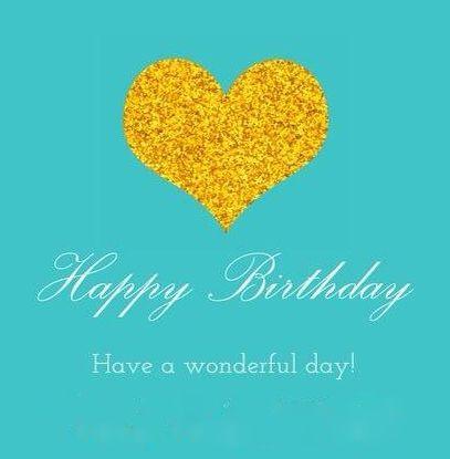 Happy Birthday - tiffany blue heart - man or woman
