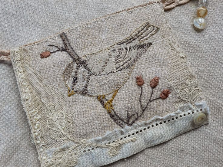 Detail of 'bird bunting' by Gentlework