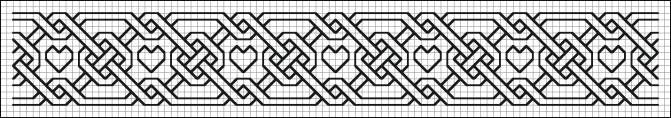 German blackwork pattern from both the Hoefer and Bassee modelbuchs of the 16th century. It has hearts!!