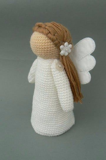 Tutorial gratis para tejer angeles a crochet, distintos diseños super faciles, angel amigurumi, y colgantes para adornar en navidad.