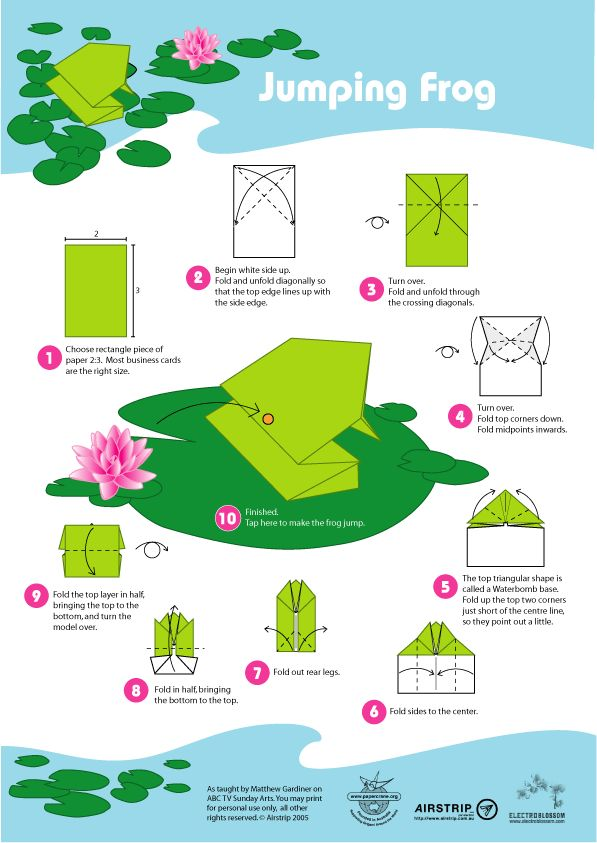 how to make a frog out of paper origami