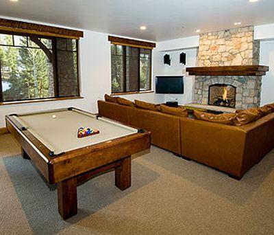 Pool table in living room