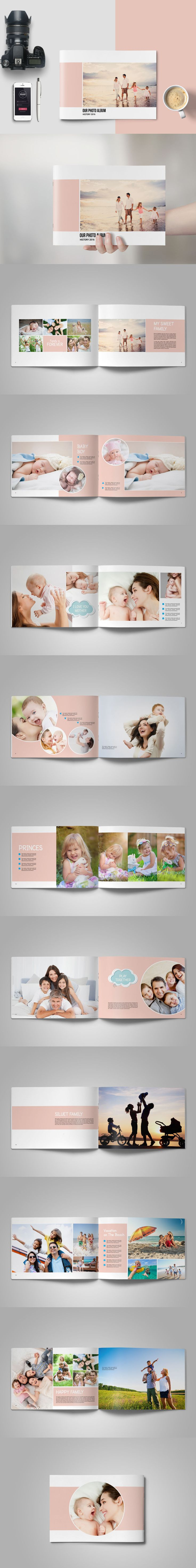 Family Or Baby Photo Album Template InDesign INDD