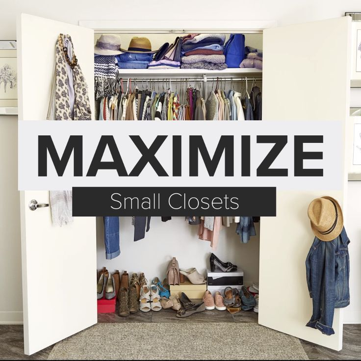 Small closet? No problem! Watch How To Organize A Small Closet.  It's your typical small reach-in closet, the kind with a single bar and a shelf. Whether it's in your bedroom, kid's room or guestroom, we'll show you how to make the most of every inch of your space.