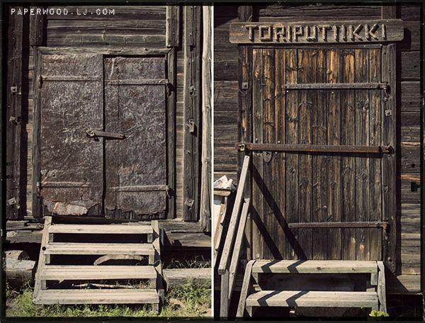 old doors in Finland