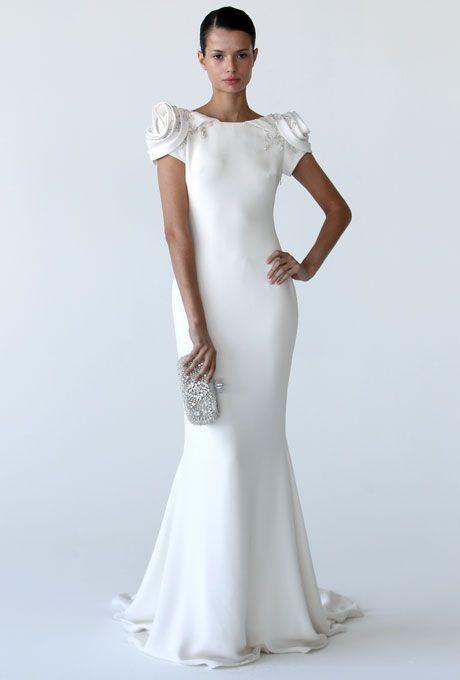 chic and modern marchesa wedding dress