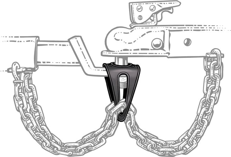 Hassle-free towing sling that keeps chains safely