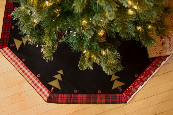 Also way too expensive but still cute- 52 inch Christmas TREE SKIRT Rustic Plaid Made in by annieswoolens, $149.00
