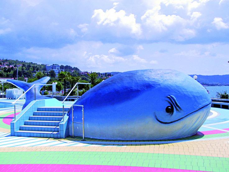 A chi è bambino e a chi è rimasto bambino dentro,  oggi dedichiamo un'opera scenografica: una #piscina a forma di #balena realizzata con la tecnica delle #RocceArtificiali.