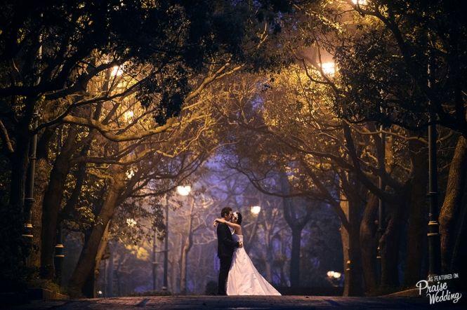 Beautiful night prewedding session