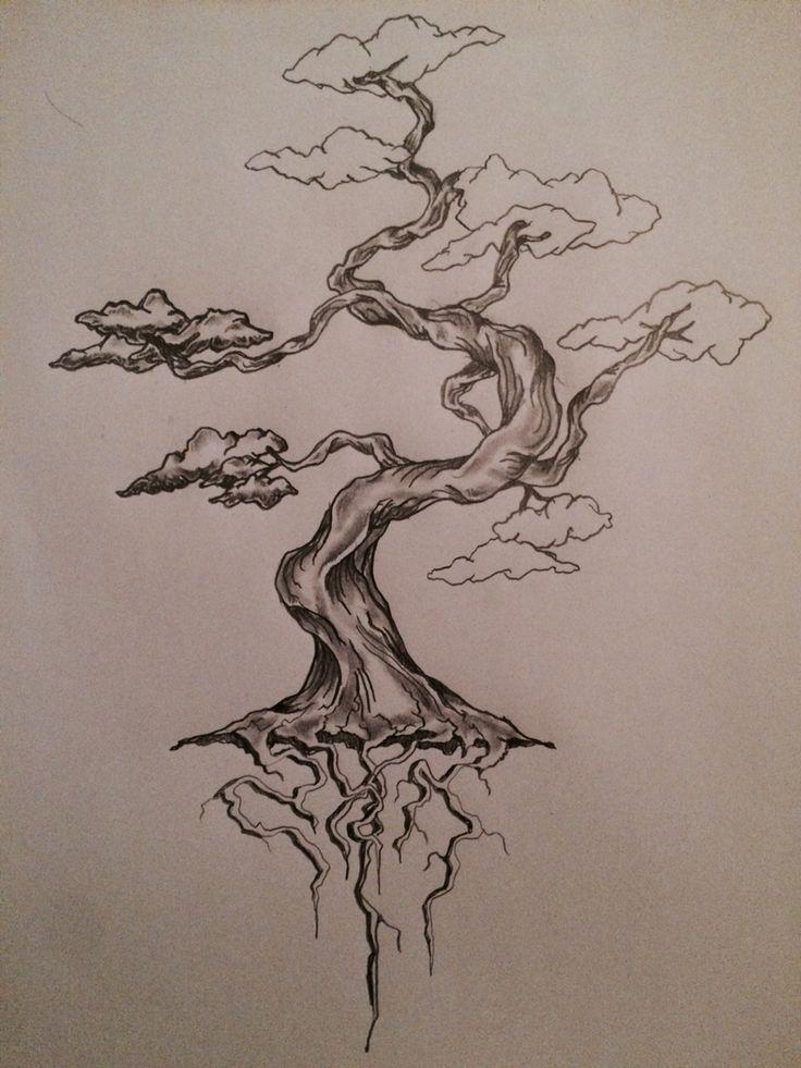 W.I.P (work in progress) bonsai tree tattoo sketch / art / drawing by - Ranz