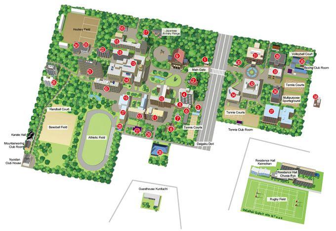 Kunitachi Campus Map|Campus Maps|Locations|About Us|Hitotsubashi University