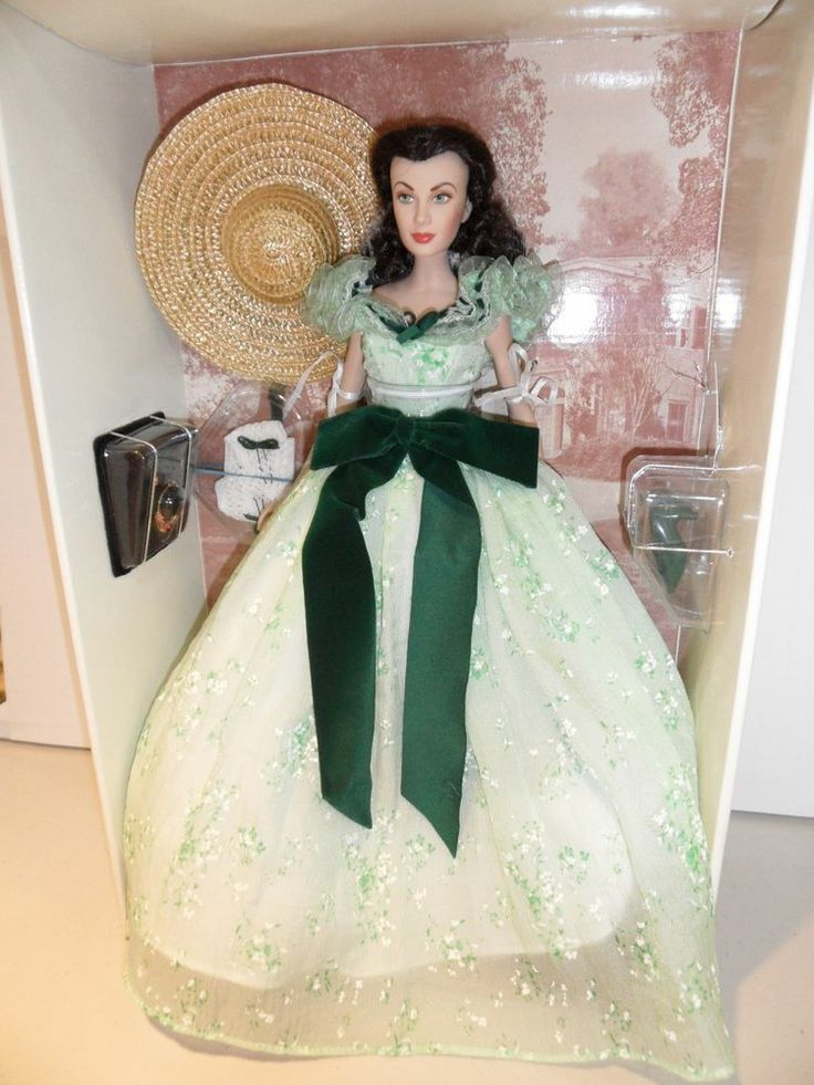 Franklin Mint Gone With the Wind Scarlett O'Hara Doll in BBQ Outfit !!!! Why do I not have this?!?!!