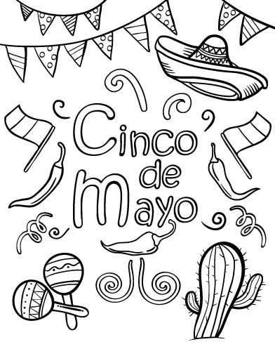 cinco de mayo free coloring pages | Top 332 ideas about Cinco de Mayo on Pinterest ...