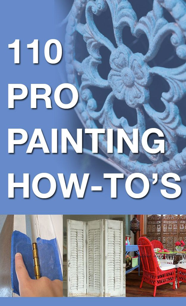 110 pro painting how-to's