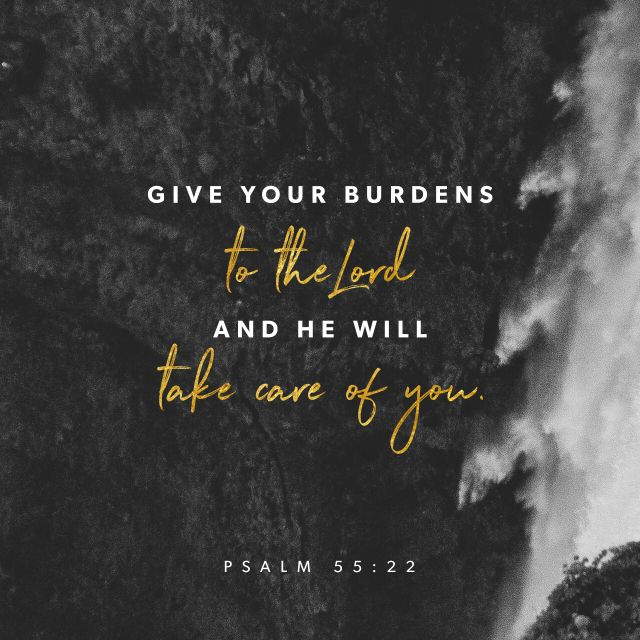 """""""Cast thy burden upon Jehovah, and he will sustain thee: He will never suffer the righteous to be moved."""" Psalms 55:22 ASV http://bible.com/12/psa.55.22.asv"""