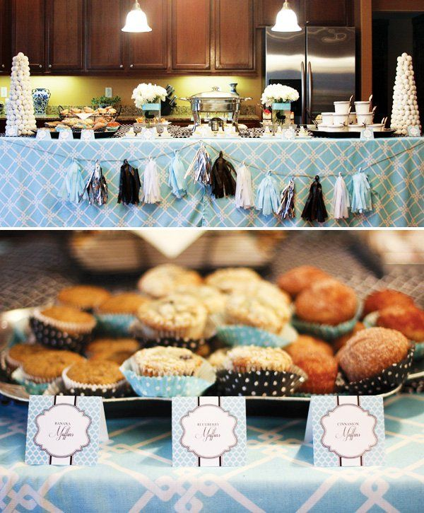 "Glamorous ""Breakfast with Tiffany"" Baby Shower"