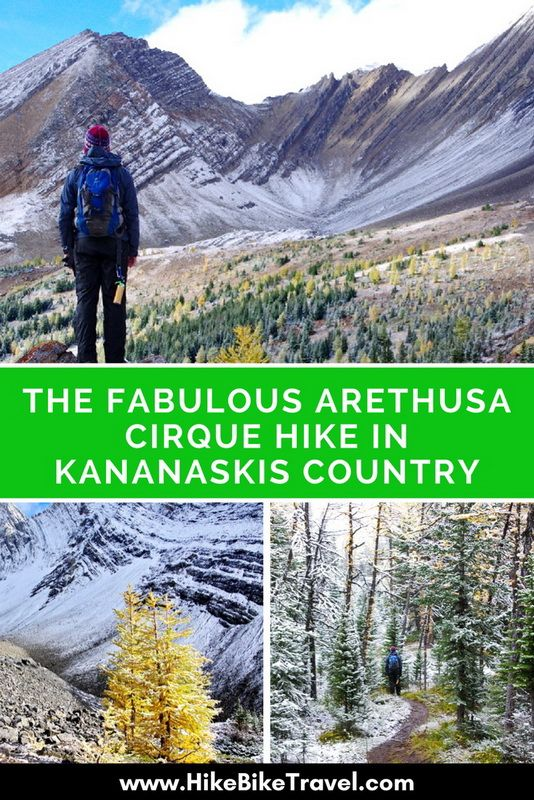 The Fabulous Arethusa Cirque Hike in Kananaskis Country - a great summer hike though this is September with a dusting of snow