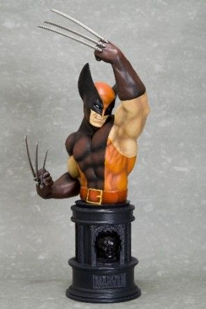 Wolverine Brown Fine Art Bust