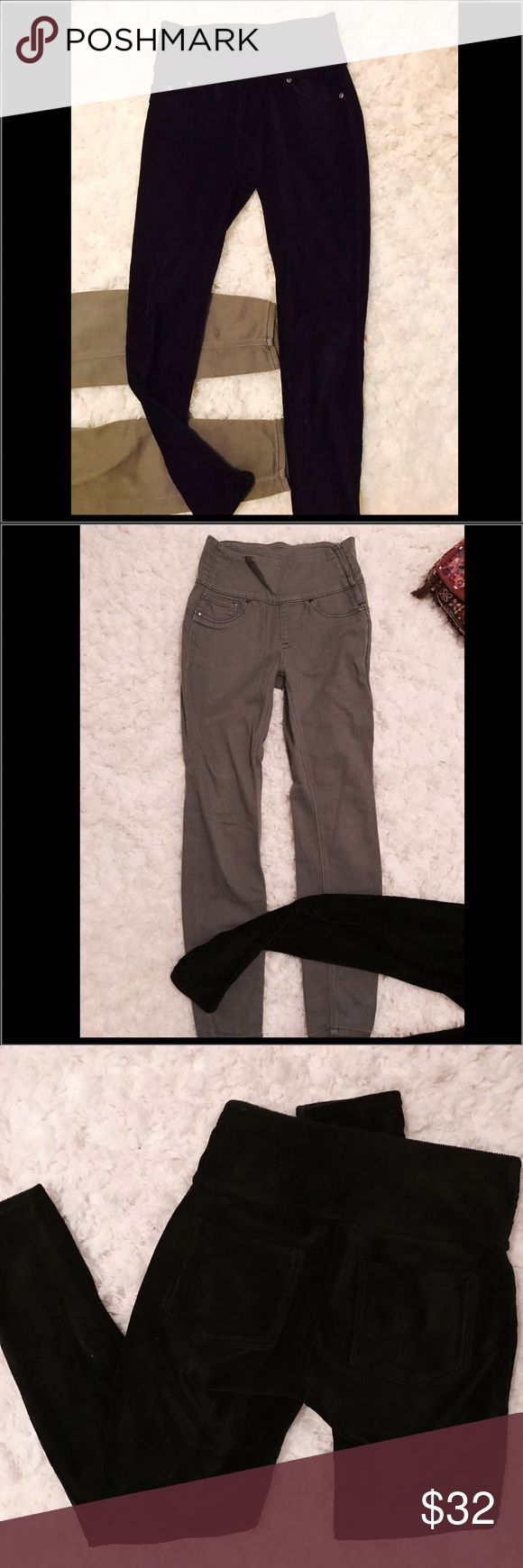 SPANX pants BUNDLE 2 pair of SPANX the black pair is soft corduroy stretchy jeggings and the grey pair is more like skinny jeans high waisted stretchy both pre owned in good condition SPANX Pants Skinny