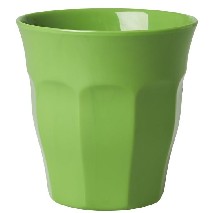 Green Melamine Cup by Rice DK, Offerd by Modern Rascals. Fun, Durable Kids Cups and Dishes.