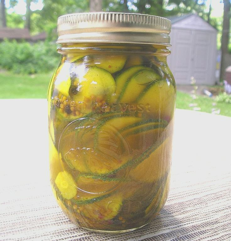 pick;es | Spicy Zucchini Pickles | Pickled This and That | Pinterest