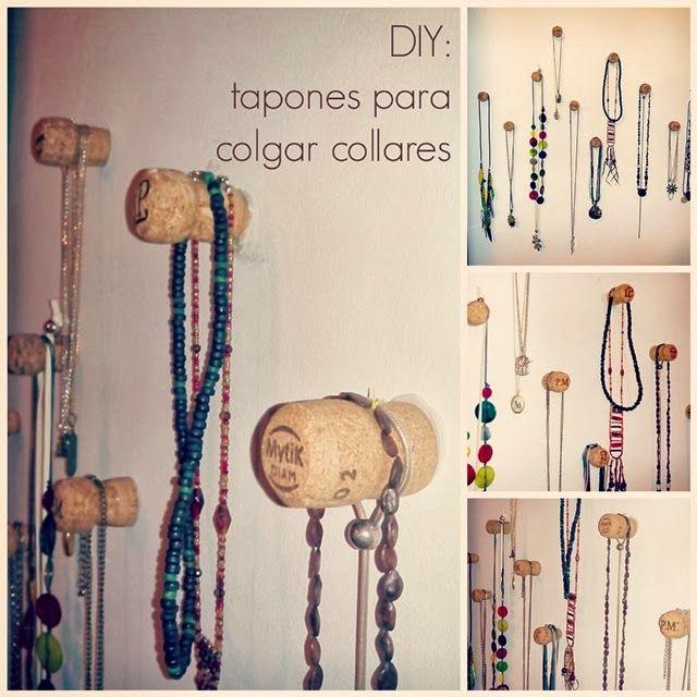 Las 25 mejores ideas sobre colgar joyas en pinterest - Como colgar collares ...