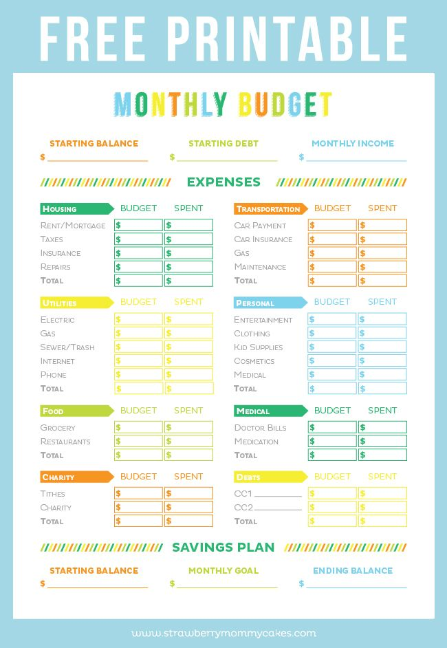 It is a graphic of Critical Free Printable Budget Worksheets