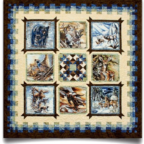 North American Wildlife Quilt Pattern Wall Quilt