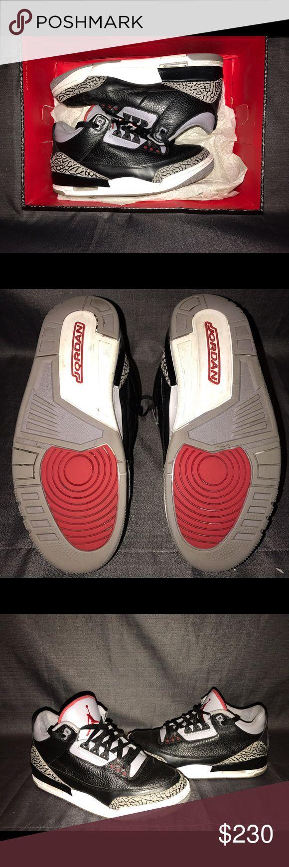 Men's Jordan Cement 3's Men's Jordan Brand Cement 3's. Size 8. 8/10 condition. Authentic! .. Jordan Shoes Sneakers
