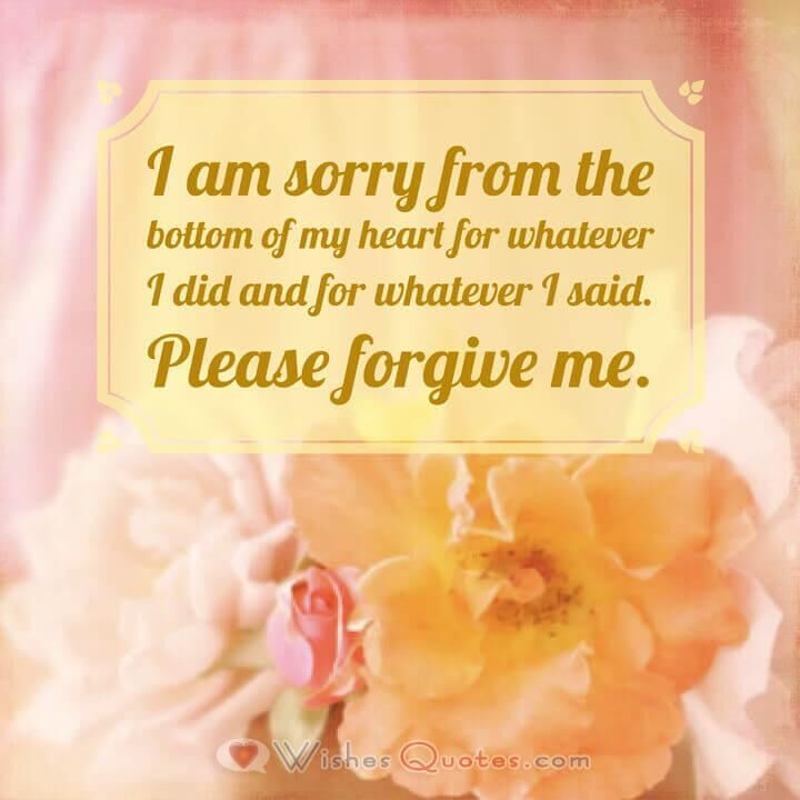 Him sorry messages for Heart Touching